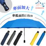 【台灣雨之情】超防潑水型男素色自動開傘-5色可選/好搭配/快乾抗強風