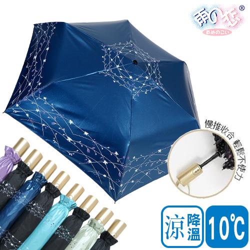 獨家降溫10℃安全自動開收- 白穗 SGS認證/防曬/抗UV/自動開收/防回彈-日本雨之戀