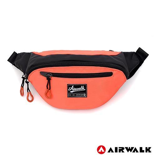 AIRWALK -休閒實用多夾層收納腰包-橘