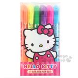 〔小禮堂〕Hello Kitty 果凍螢光筆組《6入.招手.透明盒裝》