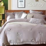 《KOSNEY 大麥町 灰》雙人100%天絲TENCEL六件式兩用被床罩組