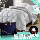 獨家送抗菌可水洗舒眠枕X1【FOCA】抗菌升級-匈牙利100%天然水鳥羽毛絨暖冬被-(台灣製造)