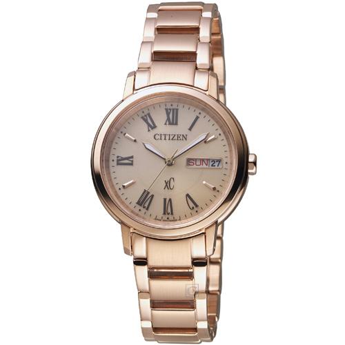 CITIZEN 星辰 xC系列 自信魅力光動能腕錶 EW2422-55X