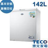 【TECO東元】142公升上掀式單門冷凍櫃(RL1481W)