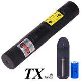 TX特林綠光雷射手電筒100mW附滿天星(TX-G100-NB)