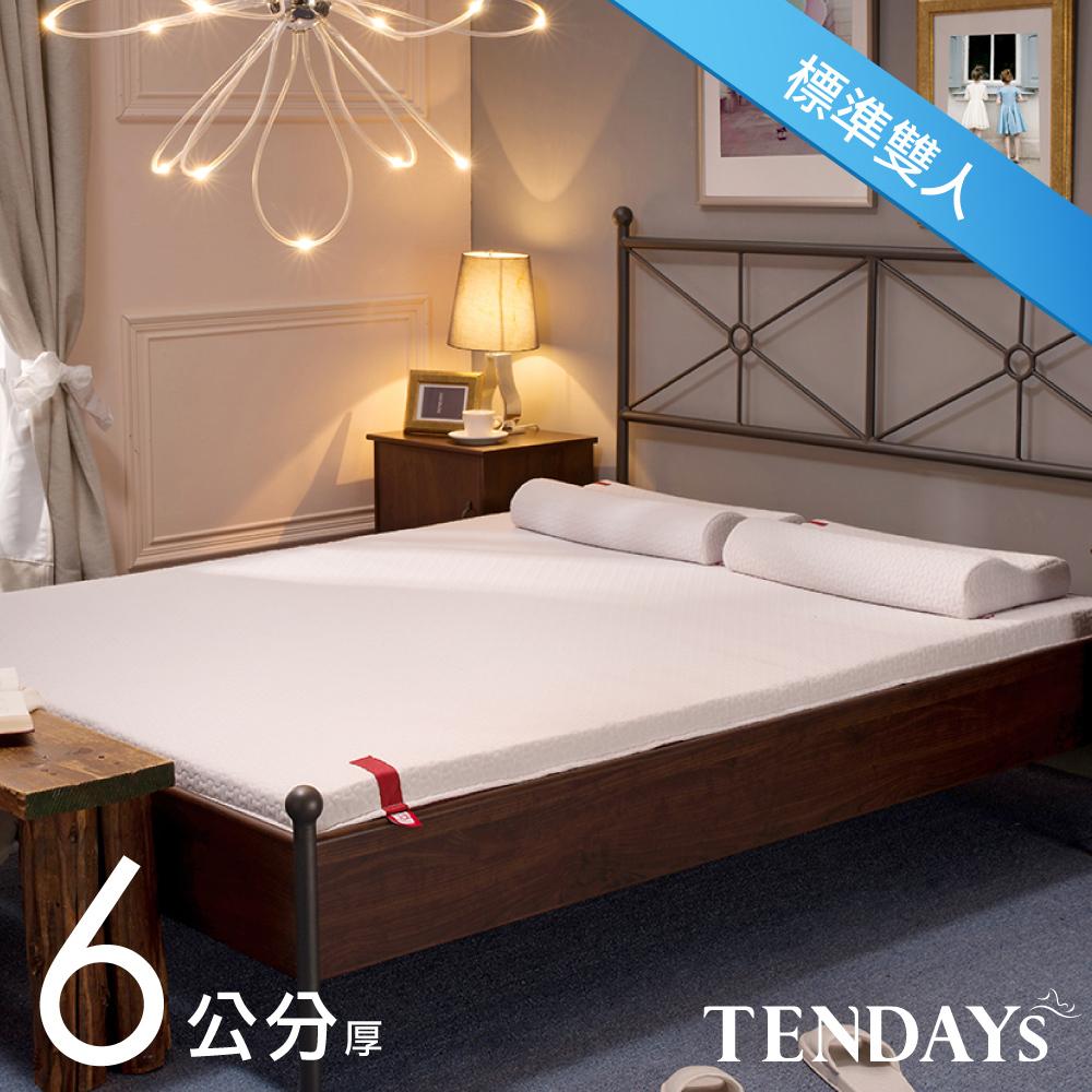 【TENDAYS】柔織舒壓床墊(標準雙人5尺 6cm厚記憶床)+造型萬用枕(超值組合)