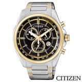 CITIZEN星辰 Eco-Drive時尚商務三眼計時碼表光動能男士手錶 AT2134-82E