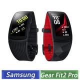 Samsung Gear Fit2 Pro SM-R365I 智慧手環(黑/紅) (長版)-【送手錶充電座+NIKE束口袋背包+手機指環扣】