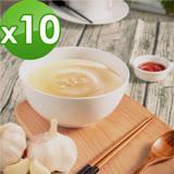 【御田】頂級黑羽土雞精品熬製蒜香雞高湯(500g/包)x10件組