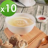【御田】頂級黑羽土雞精品熬製鮮菇雞高湯(500g/包)x10件組
