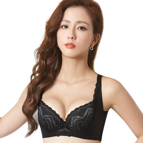 【思薇爾】挺享塑系列B-G罩蕾絲包覆背心型塑身內衣(黑色)