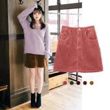日本ANNA LUNA 預購-復古時髦超顯瘦燈心絨A字型短裙(共5色/M-L)