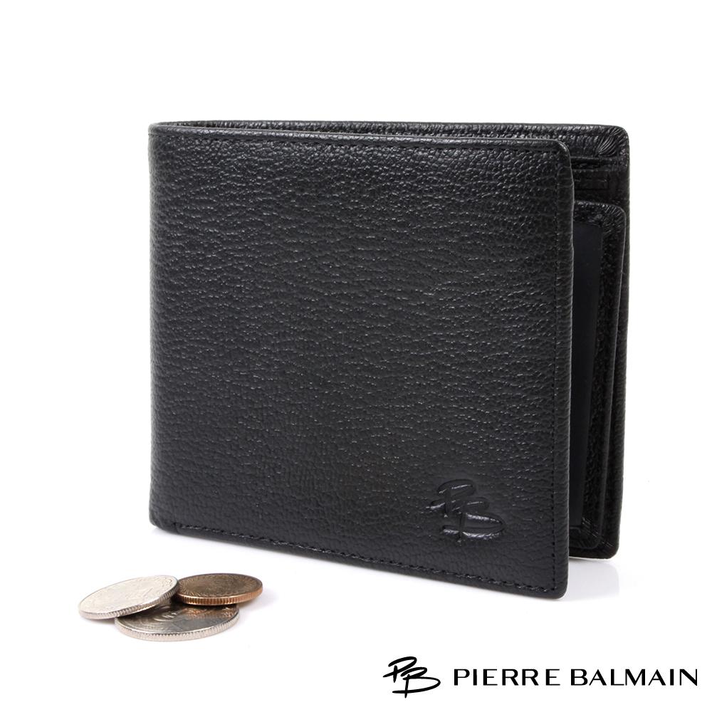 PB皮爾帕門-細膚紋頭層牛皮真皮 短夾-5卡3照2夾1零