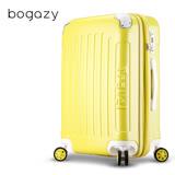 【Bogazy】蜜糖甜心 28吋PC可加大鏡面行李箱(黃色)