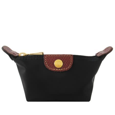 LONGCHAMP 水餃型零錢包(黑)