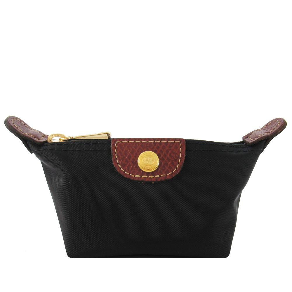 LONGCHAMP Le Pliage 水餃型零錢包(黑)