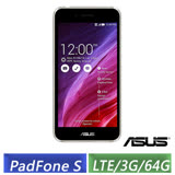 (拆封福利品) ASUS PF500KL PadFone S 5吋 (3G/64G/LTE版) 四核智慧手機(黑/白)-【送原廠皮套+螢幕保護貼】