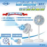 【小太陽】12吋桌立兩用遙控式環保風扇 TF-812