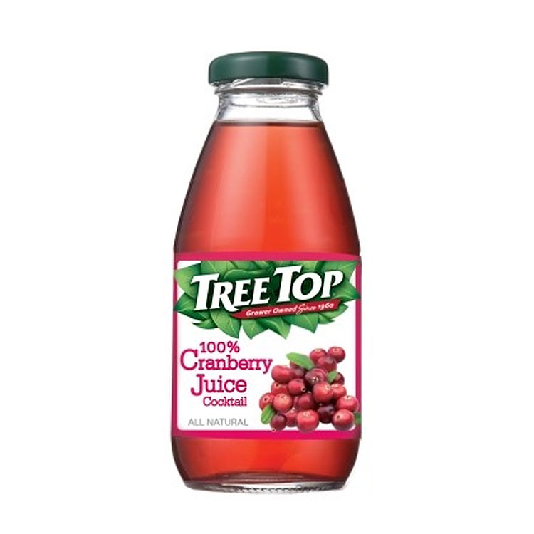 買一送一【TreeTop 樹頂】100%樹頂蔓越莓綜合果汁 玻璃瓶300ML