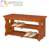 Bernice-松木心型鞋架/穿鞋椅