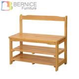 Bernice-可羅實木鞋架/穿鞋椅