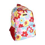 日本Hanna Hula-輕量型後背包-內襯防潑水(花樣紅)