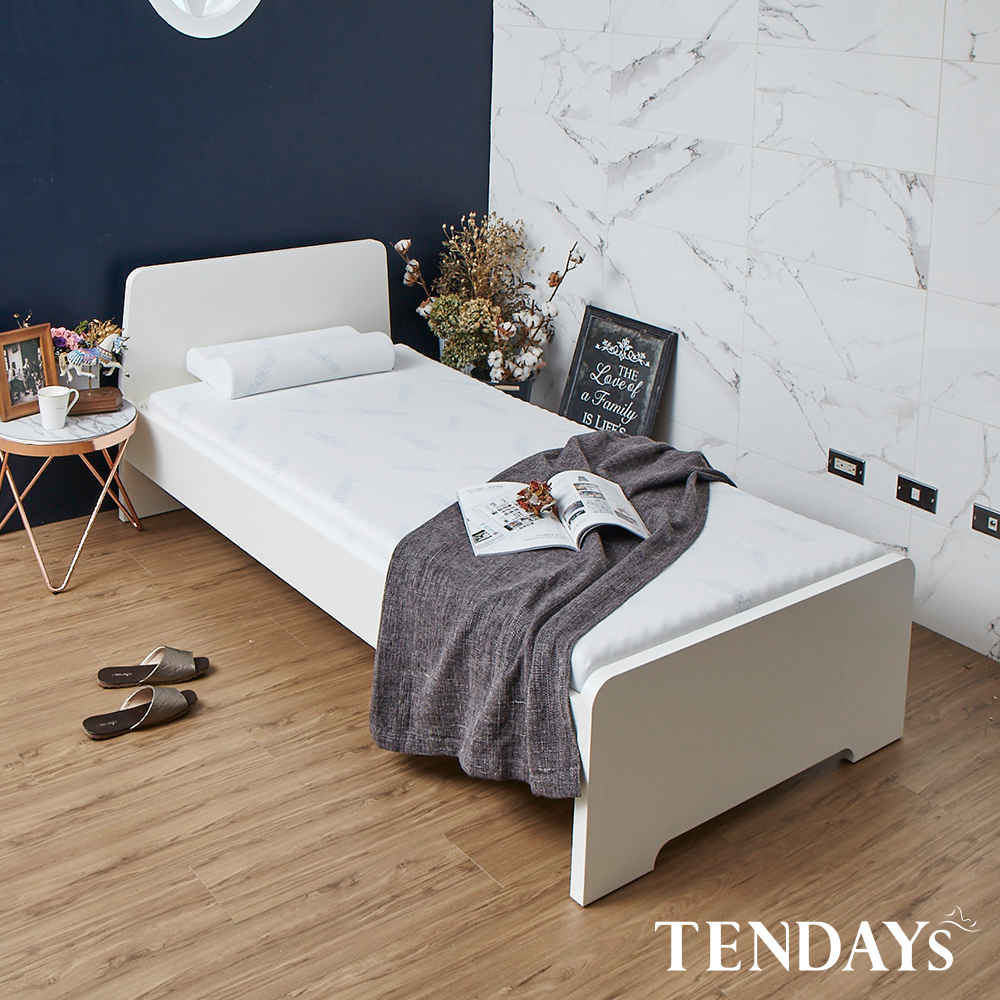 【TENDAYS】DISCOVERY柔眠床墊(晨曦白)3.5尺 5.5cm厚記憶床(加大單人)