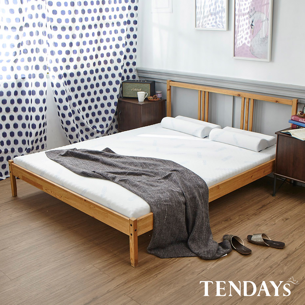 【TENDAYS】DISCOVERY柔眠床墊(晨曦白)7尺 5.5cm厚記憶床(特規雙人)