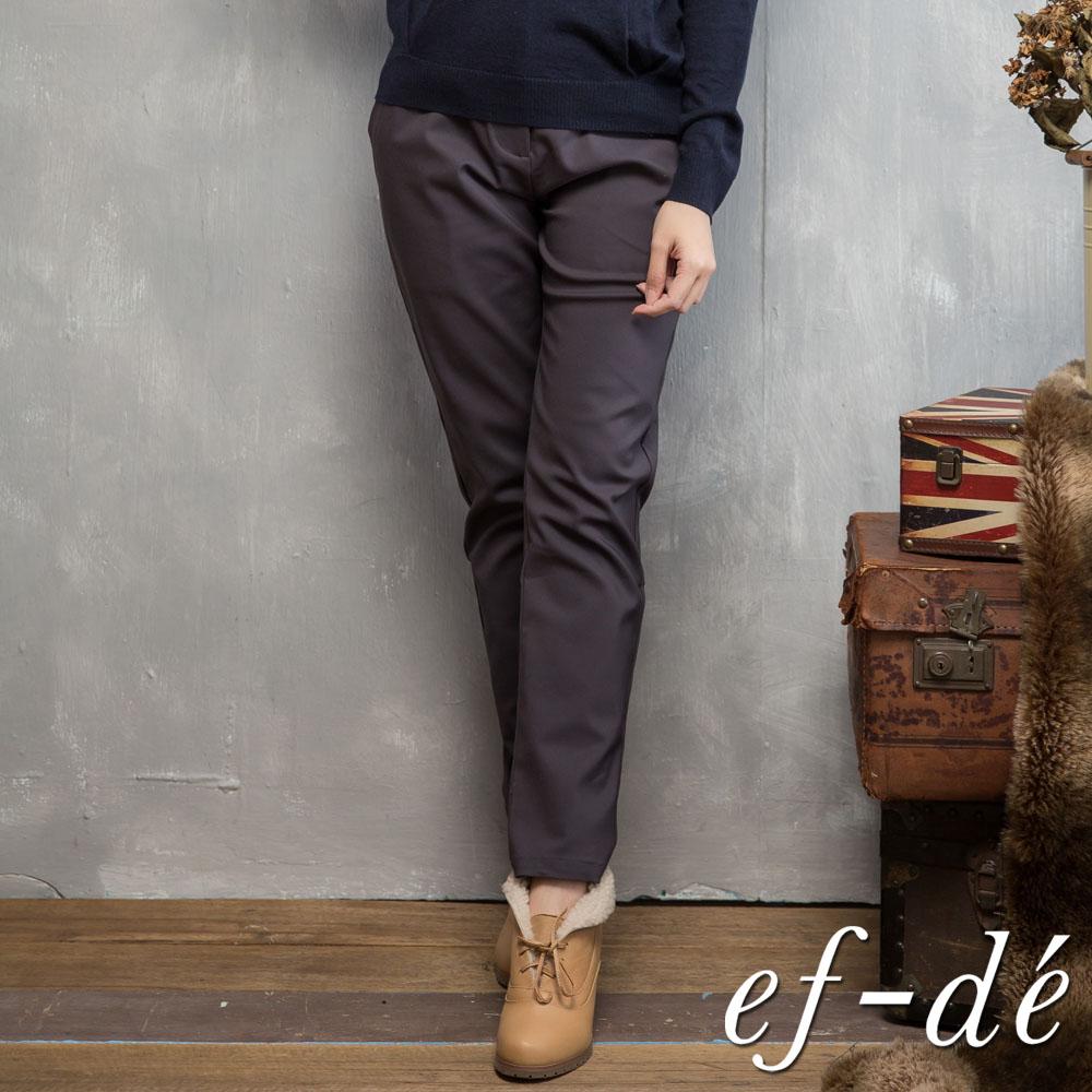 【ef-de】激安 立體感素色長褲(深灰)