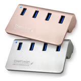 伽利略 USB3.0 4埠 充電HUB 鋁合金 附變壓器(U3H04FC)