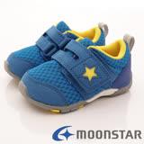 日本Carrot機能童鞋-美式星星透氣款(B885藍-12.5-14.5cm)
