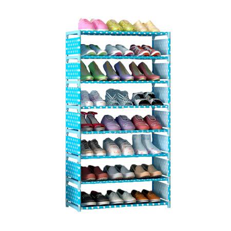 8層7格 DIY組合式置物鞋架