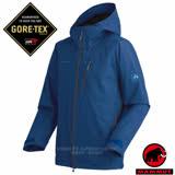 【瑞士 MAMMUT 長毛象】男新款 GORE-TEX ALL WEATHER 頂級專業防水透氣風雨衣.全天候型防水防風外套.登山雨衣/26180-5325 獵戶藍