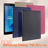 For Samsung Galaxy Tab S3 9.7吋 品味皮革紋支架保護皮套