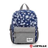 AIRWALK - Blue star輕量親子後背包(小)-星星藍