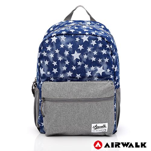 AIRWALK - Blue star輕量親子後背包(大)-星星藍