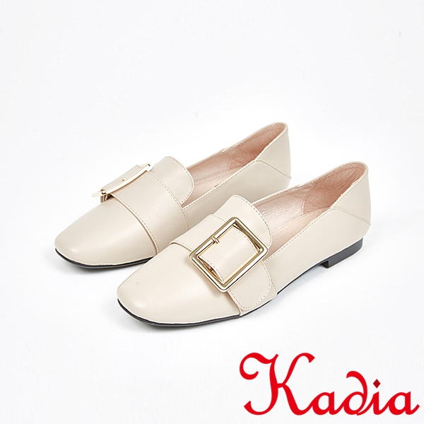 kadia.優雅舒適牛皮金屬釦包鞋(7509-00裸)