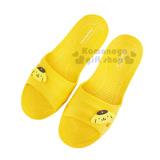 〔小禮堂〕布丁狗 塑膠拖鞋《黃.大臉》環保室內防滑