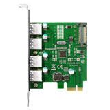 伽利略 PCI-E USB 3.0 4 Port 擴充卡 NEC晶片(PTU304B)