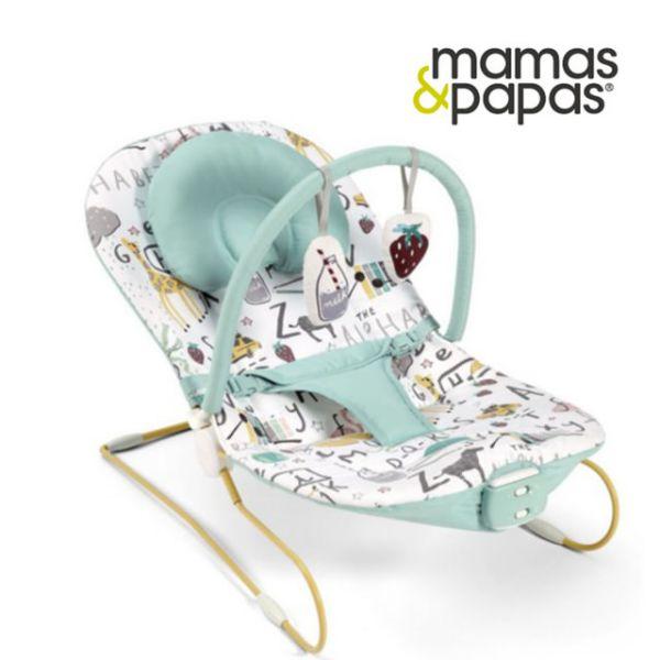 【Mamas & Papas】躺著玩字母-震動安撫躺椅