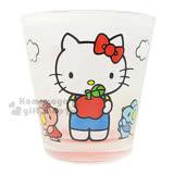 〔小禮堂〕Hello Kitty 玻璃杯《透明.松鼠.蘋果.花朵》精美盒裝