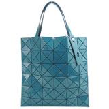 ISSEY MIYAKE 三宅一生BAOBAO幾何透光方格6x6手提包(藍綠)