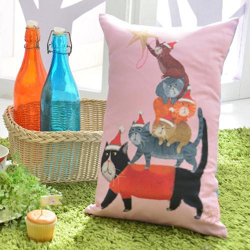 義大利Fancy Belle X DreamfulCat《貓貓疊疊樂》數位午安抱枕 42*26CM