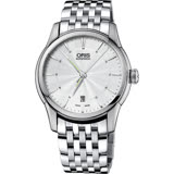 ORIS豪利時 Artelier Date 藝術家經典機械錶-銀/40mm 0173376704051-0782177