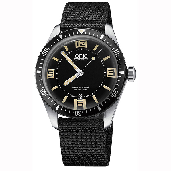Oris豪利時 Divers Sixty~Five 1965復刻潛水機械錶~黑 40mm 0173377074064~0752024