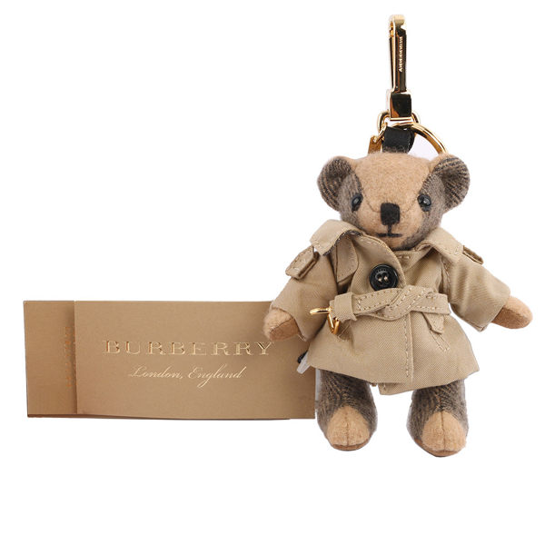 【BURBERRY】風衣造型cashmere Thomas泰迪熊吊飾/key圈