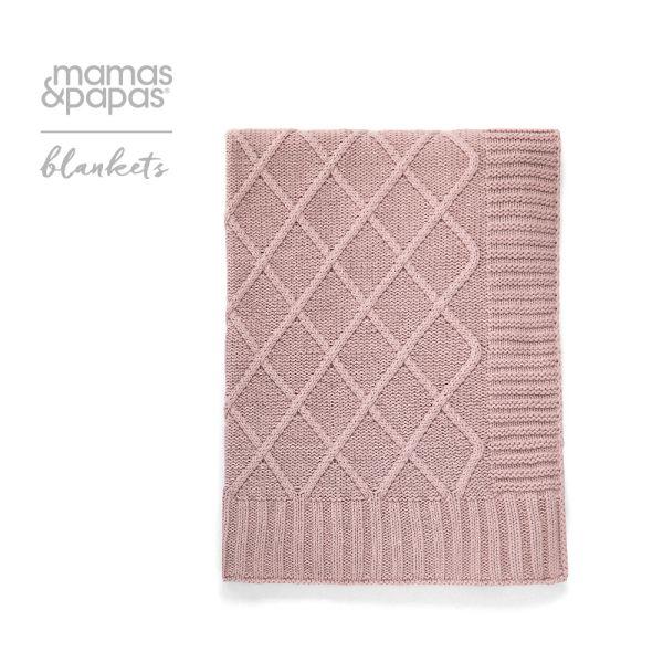 【Mamas & Papas】風箏-針織毯(玫瑰粉)