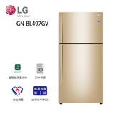 促銷★LG 樂金 496L直驅變頻上下門冰箱/ 香檳金 GN-BL497GV 送基本安裝