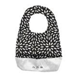 【美國Ju-Ju-Be媽咪包】Be Neat 嬰兒圍兜-PlatinumPetals黑白花瓣