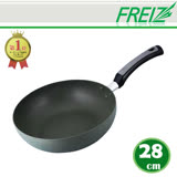 【FREIZ】日本進口耐磨陶瓷平底鍋-28CM